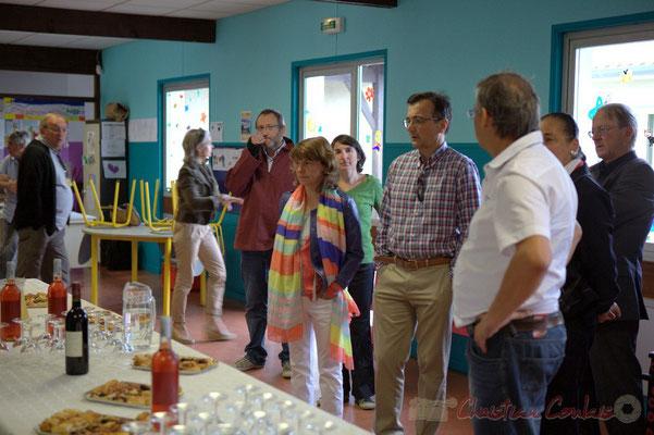 Apéritif inaugural avec les partenaires et les bénévoles. Festival JAZZ360 2012, groupe scolaire de Cénac, samedi 9 juin 2012