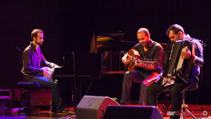 Eym Trio; Elie Dufour, Mohamed Abozekry, Marian Badoï. Festival JAZZ360, Cénac, 09/06/2017