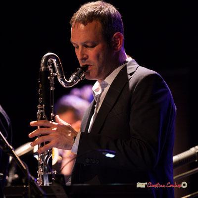 Thomas Savy (tête d'affiche en 2015 avec son quintet; Medium Ensemble 3 de Pierre de Bethmann. Festival JAZZ360 2019, Cénac. 07/06/2019