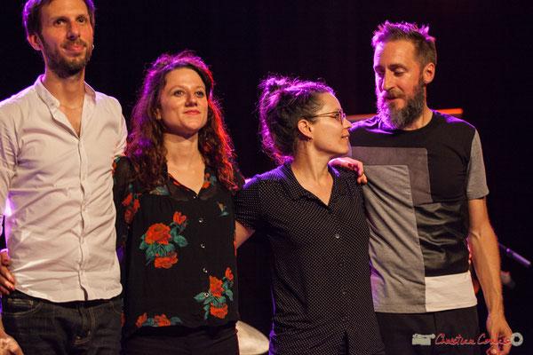 """Tony Paeleman, Leïla Martial, Anne Paceo, Christophe Panzani, """"Anne Paceo Circles"""", Festival JAZZ360, Cénac, 10/06/2017"""