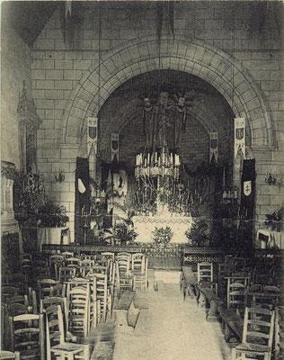Intérieur de l'église Saint-André 1906. Cénac d'antan. Collection Jean-Pierre Couthouis