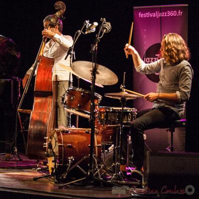 Trio Marcelle, Laurent Vanhée, Jéricho Ballan. Soirée Cabaret JAZZ360, Cénac, 05/11/2016