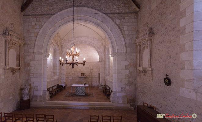 Nef et abside. Eglise Saint-André, Cénac. 28/04/2018