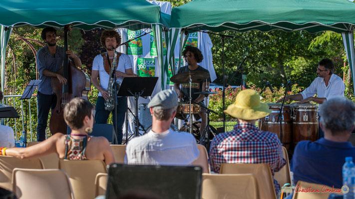 Gaétan Diaz Quintet. Festival JAZZ360, 10 juillet 2017, Cénac