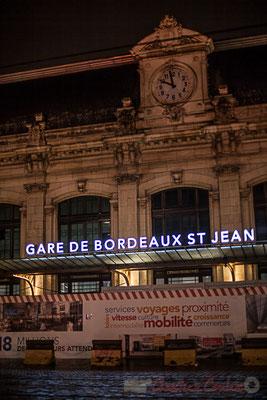 Façade principale de la Gare Saint-Jean, en cours de rénovation. Bordeaux