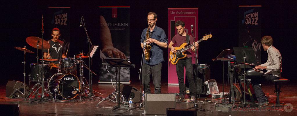 6 Gaétan Diaz, Julien Dubois, Ouriel Ellert, Simon Chivallon, quartet Le JarDin. Tremplin Action Jazz 2017. Le Rocher de Palmer