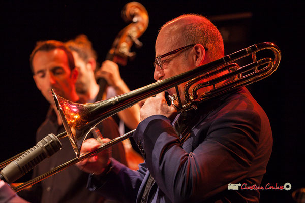 Denis Leloup; Medium Ensemble 3 de Pierre de Bethmann. Festival JAZZ360 2019, Cénac. 07/06/2019