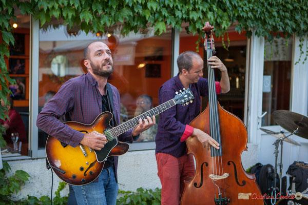 Thomas Saint-Laurent, Thomas Julienne, TSL Trio, Festival JAZZ360, 10 juin 2010, restaurant les Acacias, Cénac