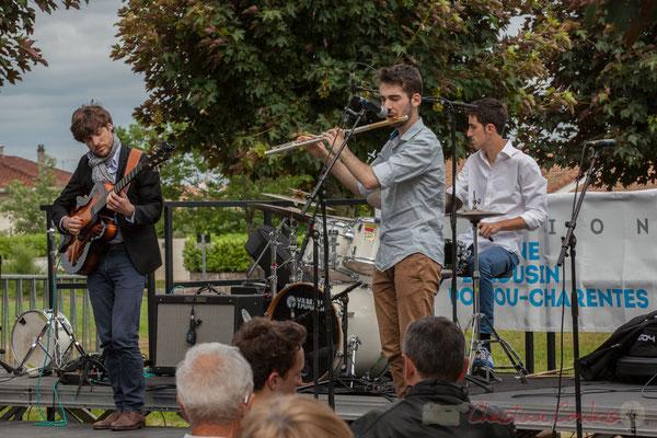 Eddie Dhaini, Alexandre Aguilera, Pierre Lucbert, Festival JAZZ360 2016, Cénac, 11/06/2016