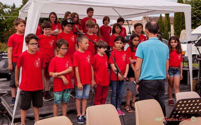 """2 """"A cappella"""" Chorale de l'école du Tourne dirigée par Vincent Nebout. Festival JAZZ360 2018, Cénac. 08/06/2018"""