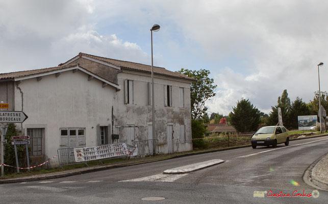 Avenue de Bordeaux, démoliton à prévoir pour construire la Résidence Argentina. Cénac, 11/10/2012