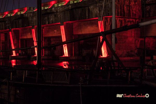 Batellerie au bassin à flot et base sous-marine, Bordeaux, Gironde. Mercredi 27 février 2019