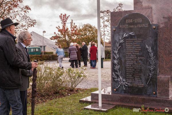 Ancien monument aux mort de Cénac. Commémoration du 11 novembre 1918 à Cénac, 11/11/2017