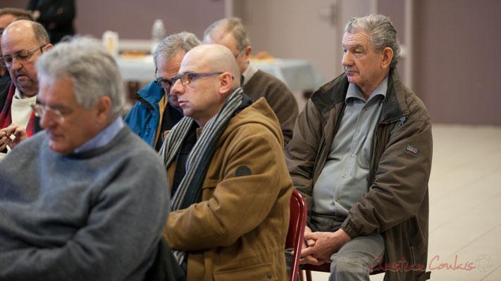Au centre, Jean Samenayre, Adjoint au Maire de Créon