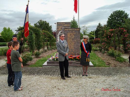 Hommages et commémoration de l'Armistice du 8 mai 1945 à Cénac, ce mardi 8 mai 2012.