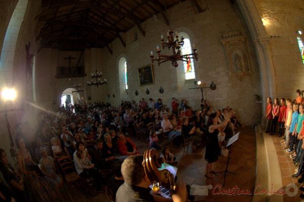 Chorale Jazz des écoles de la Communauté de Communes des Portes de l'Entre-Deux-Mers. Festival JAZZ360 2012, église Saint-André, Cénac. 08/06/2012