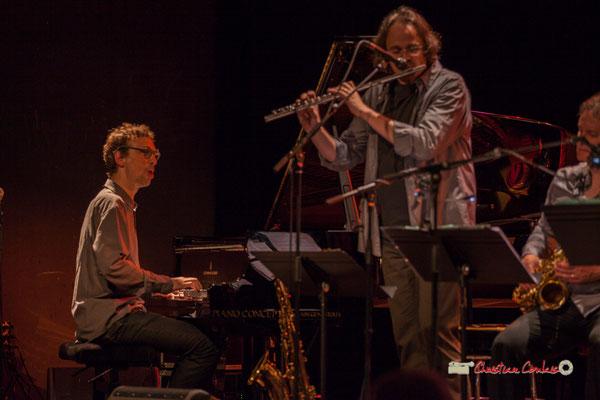Pierre de Bethmann, Stéphane Guilaume; Medium Ensemble 3 de Pierre de Bethmann. Festival JAZZ360 2019, Cénac. 07/06/2019