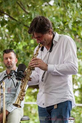 Eric Séva Quartet : Daniel Zimmermann, Eric Séva. Festival JAZZ360 2016, Camblanes-et-Meynac