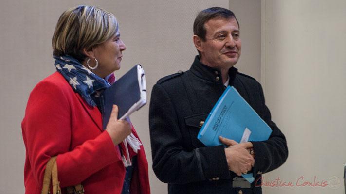 Catherine Veyssy, Vice-présidente du Conseil régional, Maire de Cénac, Thierry Suquet, Secrétaire général de la Préfecture de la Gironde