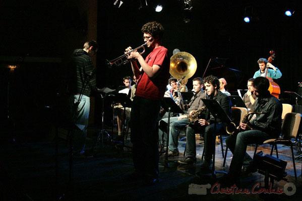 Solo de trompette. Big Band du Conservatoire Jacques Thibaud, section Musiques Actuelles Amplifiées-Jazz. Festival JAZZ360 2010, Cénac. 14/05/2010