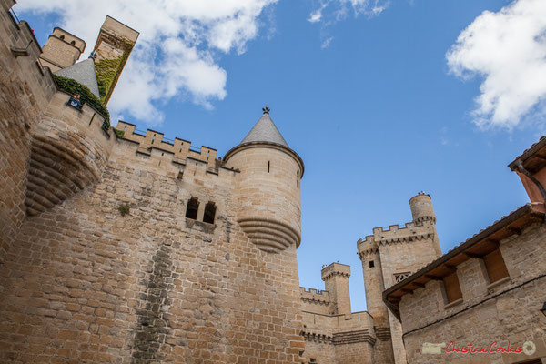 Détail architectural du palais royal, Olite, Navarre / Detalle arquitectónico del palacio real, Olite, Navarra