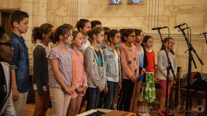 La Chorale jazz du TAP de l'école de Cénac. Eglise Saint-André de Cénac. Festivla JAZZ360 2016, 10/06/2016