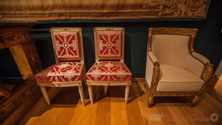 Bergères livrées pour le boudoir de l'impératrice Joséphine aux Tuileries par Michel-Jacques Boulard, Musée du Louvre