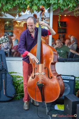 Thomas Julienne, TSL Trio, Festival JAZZ360, 10 juin 2017, restaurant les Acacias, Cénac