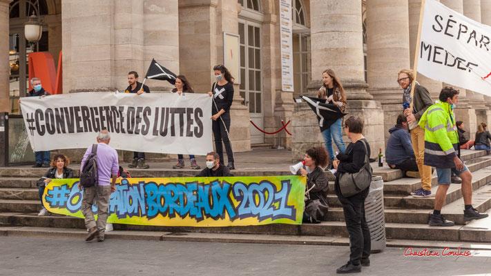"""""""Convergence des luttes"""" Manifestation intersyndicale, Bordeaux, mardi 5 octobre 2021. Photographie © Christian Coulais"""