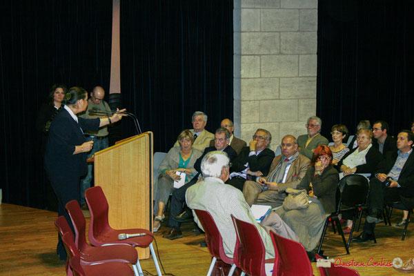 Martine Faure, Députée de la Gironde. Lancement officiel de l'opération nationale Arbres de la Laïcité. Créon, samedi 19 juin 2010