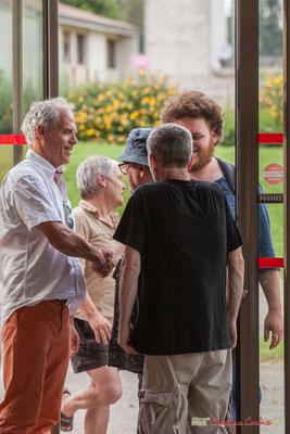 Lionel Chollon, Maire de Loupiac et parrain du Comité de soutien salut Louis Lubat. Concert de soutien des Insoumis de la 12ème circonscription de la Gironde. 28/05/2017, Targon