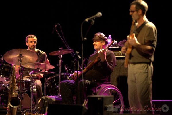 Eric Perez, Dany Marcomb, Patricio Lameira; Post Images. Festival JAZZ360 2012, Cénac. 10/06/2012