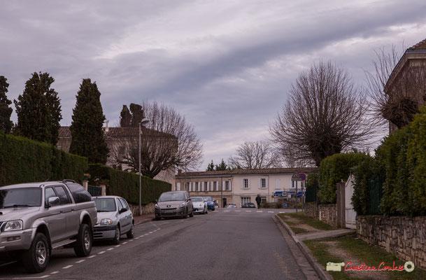 Avenue de la République par Christian Coulais. Cénac d'aujourd'hui. 13/01/2018