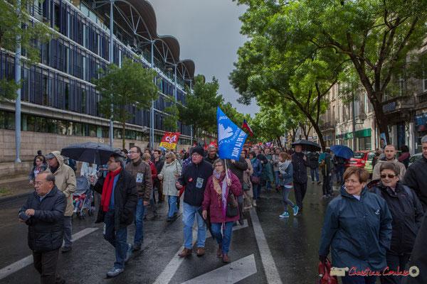 Mouvement pour la Paix, Manifestation du 1er mai 2017, avec la France Insoumise, cours d'Albret, Bordeaux