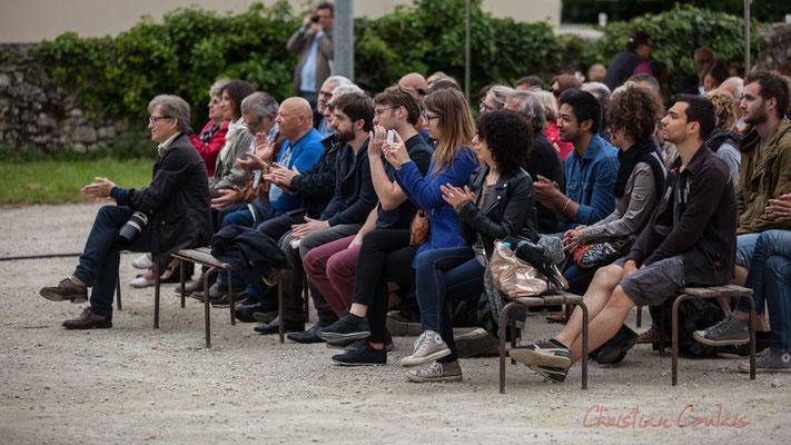 Un public qui apprécie la musique du sextet d'Alexis Valet. Festival JAZZ360 2016, Quinsac, 12/06/2016