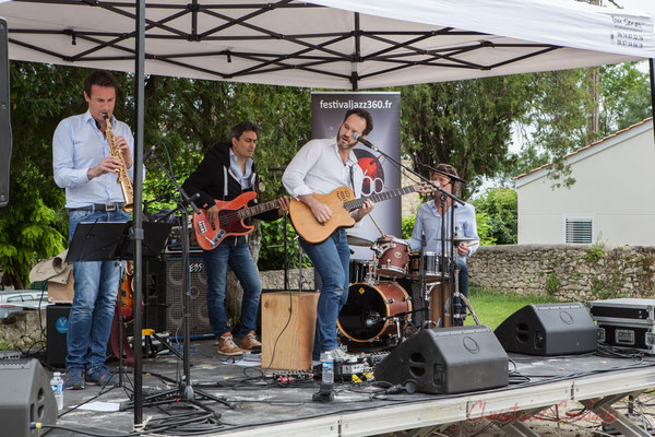 Thomas Lachaize, Jean Lassallette, Nicolas Mirande, Christophe Léon Schelstraete, Taldea Group. Festival JAZZ360 2016, Quinsac, 12/06/2016