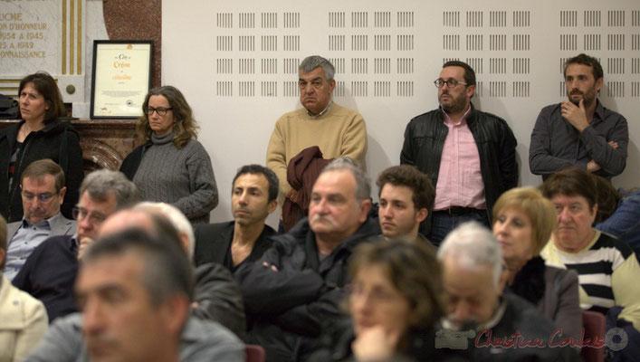 """Meeting républicain des candidats """"Majorité départementale"""" aux élections départementales du canton de Créon, 19 mars 2015"""