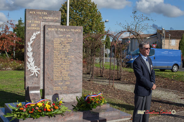 Gérard Pointet, Président des Anciens Combattants, Ancien Maire de Cénac (Gironde). Hommages et commémoration Hommages et commémoration de l'Armistice du 11 novembre 1918 à Cénac, ce dimanche 11 novembre 2012.