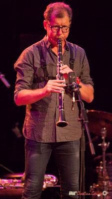 Fred Pouget, clarinette sib; Clax Quartet. Festival JAZZ360 2018, Cénac. 09/06/2018