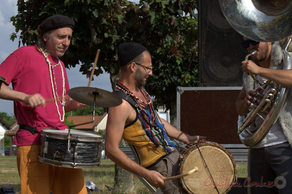 Elephant Brass Machine, Jean-Michel Achiary, Ludovic Lesage, Damien Bachère. Festival JAZZ360 2015, Cénac, 12/06/2016