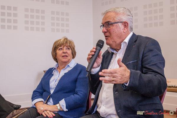 """Françoise Cartron, Jean-Marie Darmian. Sortie et dédicace du livre """"Le jour où..."""" de Jean-Marie Darmian, Créon. 14/10/2017"""