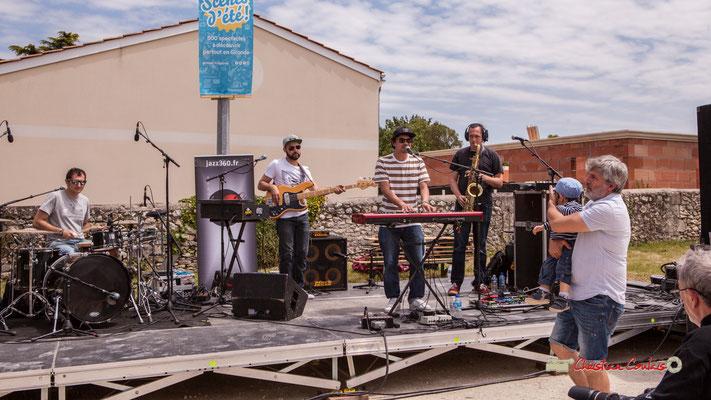 Guillaume Brissiaud, Victor Bérard, Olivier Lerole, Vincent Lefort; The Protolites. Festival JAZZ360 2019, Quinsac. 09/06/2019