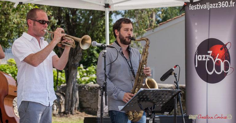 Jérôme Dubois, Paul Robert, Quintet On Lee Way, Festival JAZZ360, Quinsac, 11/06/2017