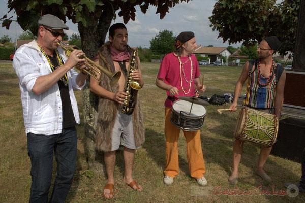 Elephant Brass Machine, Régis Lahontâa, Mathis Polack, Jean-Michel Achiary, Ludovic Lesage. Festival JAZZ360 2015, Cénac, 12/06/2016
