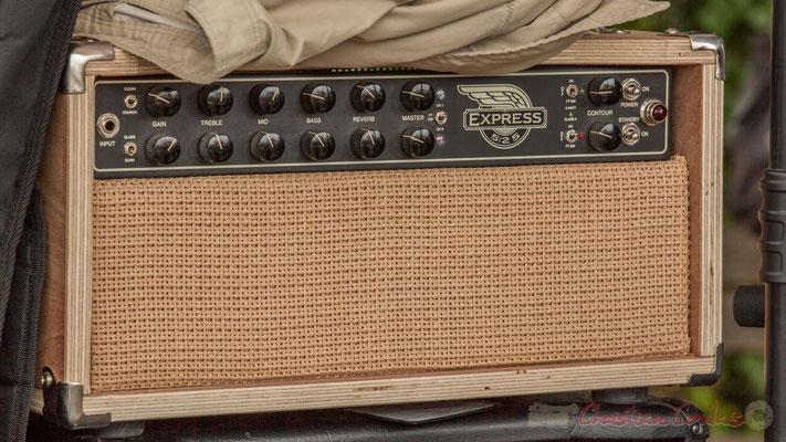 """Tête d'ampli guitare """"reconditonnée"""" Mesa Boogie Express 5:25 de Jean Lasallette. Festival JAZZ360 2016, Quinsac, 12/06/2016"""