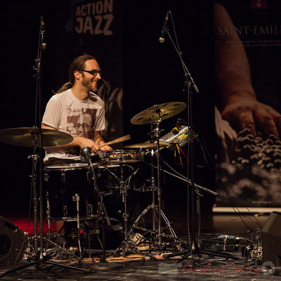 9 Simon Pourbaix du trio King Kong III. Tremplin Action Jazz 2017. Le Rocher de Palmer, Cenon