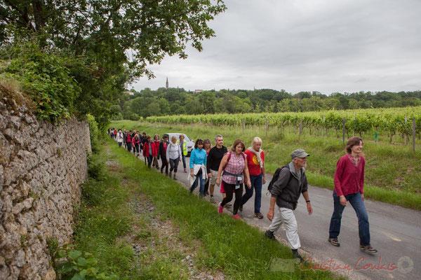 Route du lavoir, Quinsac. Randonnée pédestre Jazz360 2016, de Cénac à Quinsac, 12/06/2016