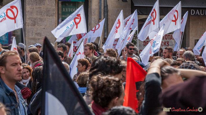 FI, F.I., Phi... Manifestation contre la réforme du code du travail. Place Gambetta, Bordeaux, 12/09/2017