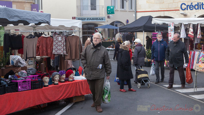 Il n'y a pas que les femmes qui font leur marché, Créon, Gironde
