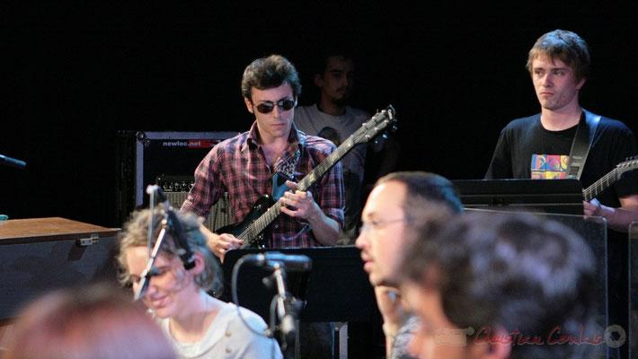 Guitaristes, Big Band du Conservatoire Jacques Thibaud, section MMA. Festival JAZZ360, Cénac. 03/06/2011